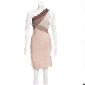 Herve Leger One shoulder bandage dress. Size M